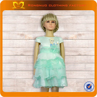 wholesale low price latest children fancy evening party ruffle dress design