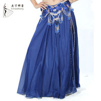 88183-1 arabic dance dress side open sexy long chiffon Cheap Belly Dance Skirt