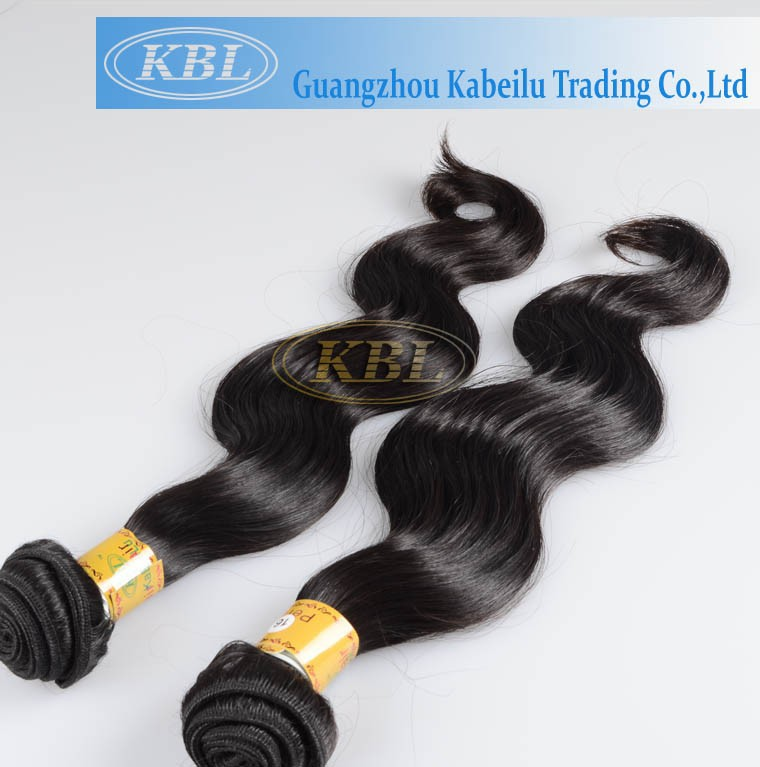 KBL peruvian human hair,Hair Double Wefts Dyeable 100% Virgin Peruvian Hair weave 10a