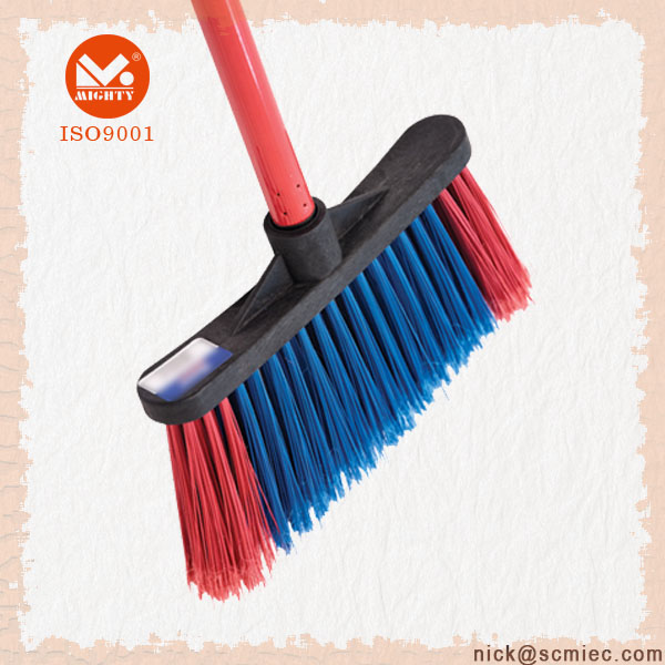 PP Cleaning Broom With Two Color Filaments