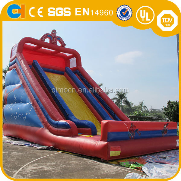 Spiderman Inflatables giant slide , High jumpers super spiderman Slide game inflatables