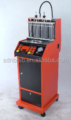 Ultrasonic diesel fuel injector tester and cleaner