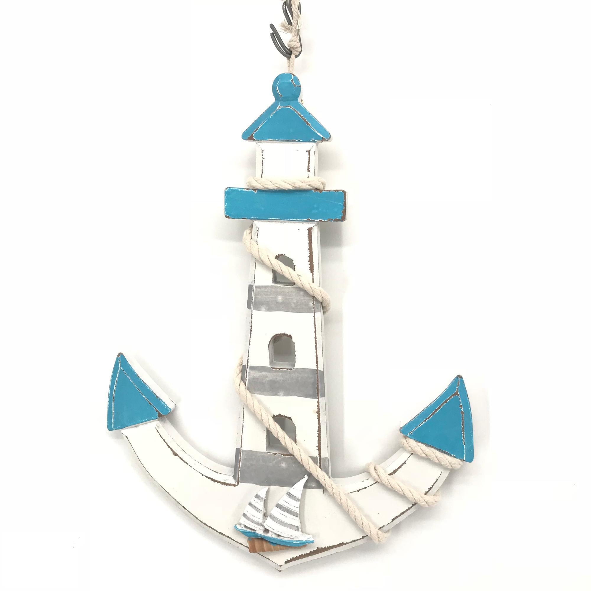 2018 new design product Nautical Antique Colored Sailor's wood anchor
