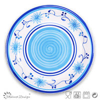 charger plates decorative ceramic stoneware hand painting severing plate