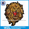 Custom embroidery animal patches, lifelike embroidery lion patch for clothing back patch