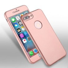 For Iphone 7 Mobile Case 360 Degree Full Body Cover PC Hard Slim Protector Cases for iPhone 7 plus