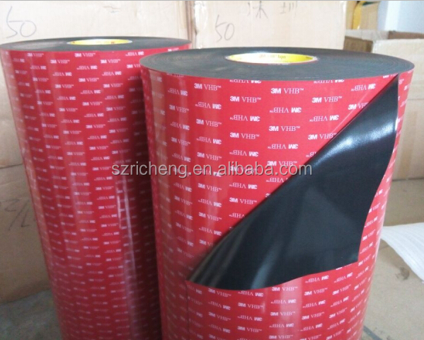 3M 5952 VHB foam mounting tape double sided acrylic foam tape, black, thickness 1.1mm