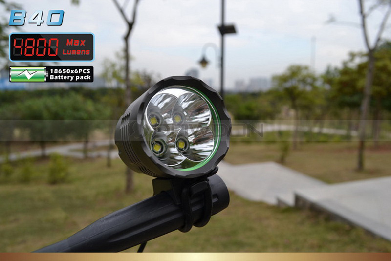 Cree XML T6 LED Bicycle Light with 8.4v 8800mAh Battery Pack