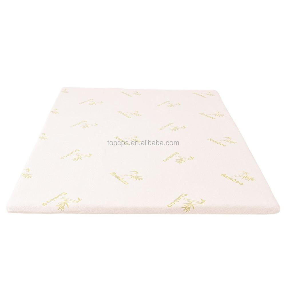 bamboo mattress topper memory foam mattress topper non-slipping sole