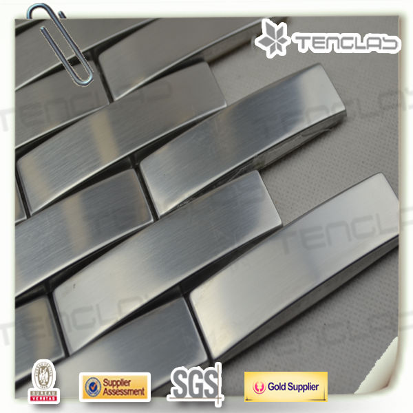 hot sell silver polished stainless steel strip mosaic