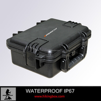 Hard PP Waterproof Durable plastic equipment tool case /Rugged box with foam insert 395*299*148mm