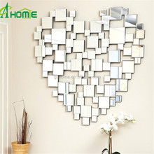 heart-shaped mosaic of mirrors blends contemporary styling