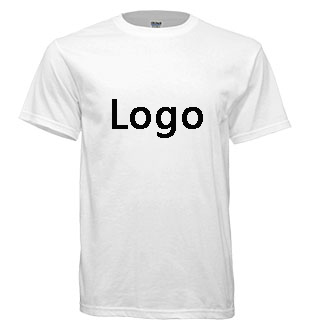 Wholesale Gildan custom designed White t shirts for Mens 100% preshrunk cotton 180grams Screen Printing Tshirt