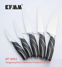 Handle made of ABS with single stainless steel stell Yangjiang Knife Set kitchen knife set