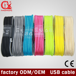 Good Quality Factory Price Nylon Braided USB Cable Android Charger