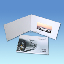 Hot sale 10 inch blue picture video lcd business card video brochure for advertising