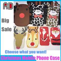 Top Selling 3D Cute Christmas Santa Claus Cell Phone Case Soft Silicone Protective Case for Samsung J7 2016 J5 2016