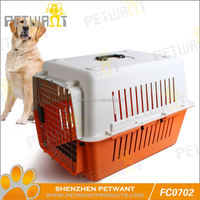 Selected material 3 doors folding dog crate cage w/metal pan