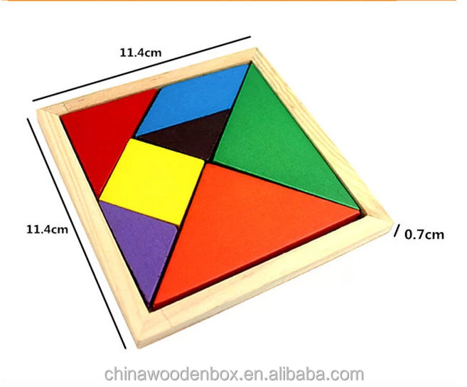 2015 popular wooden tangram for kids