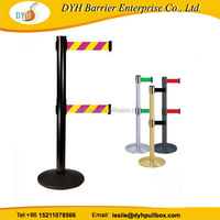 Bottom price exported sign board retractable barrier stand