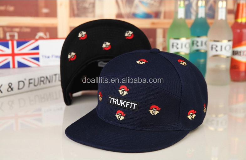 high quality hip pop hat Snapback caps with plastic back closure