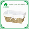 AC ROOM trapezoid decorative storage basket with liner, seagrass rope knitting