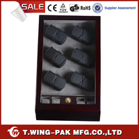 PU Leather Acrylic Window Watch Winder for Sale