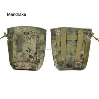 Mesh Bottom MOLLE Water Bottle Pouch Drawstring 600D Tactical Hydration Carrier
