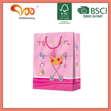 Custom design and logo OEM manufactory wholesale wrapping pkg paper handles paper carrier bag