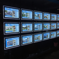 Real Estate Acrylic Picture Frame Advertising Displays LED Window Display