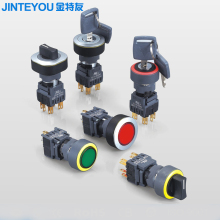 plastic round push button switch rotary selector switch