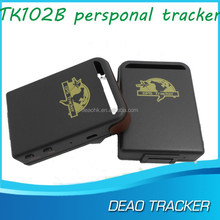 SOS alarm by SMS accurate mini gps tracker TK102 for personal with Waterproof bag & Magnetic cover car gps tracker