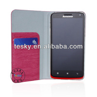 2014 newest design flip pu leather case for Lenovo A628T flip case