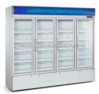 Supermarket Refrigerated Display Case/Supermarket Display Refrigerator/Supermarket Refrigerator with glass doors