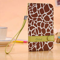 PU leather wallet flip pouch cover leather book case for samsung galaxy note 2 ll N7100 -coffee