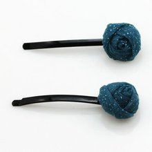 Fashion Blue Rose Hair Pin