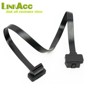 LKCL888 Full chips OBD2 16 pin Male to Female Flat extension cable