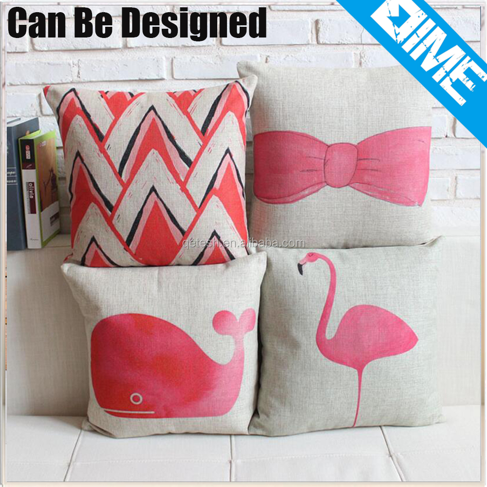 Pink Fashion Pattern sublimation embroidery custom printed pillow cases
