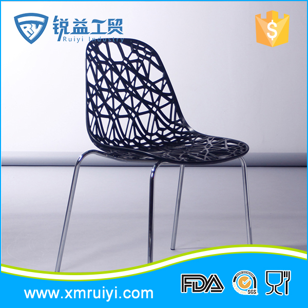 Top quality modern colorful sturdy fancy commercial plastic chairs
