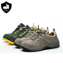 Double density PU outsole two color optional otter safety shoes with air hole