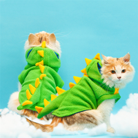Puppy Hoodie Fancy Coat Pet Dog Cat Cute Dinosaur Dog Cat Costume Outfit Clothes