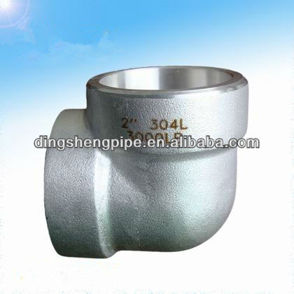 3000# 90 degree NPT threaded ASTM A105 forged steel elbow