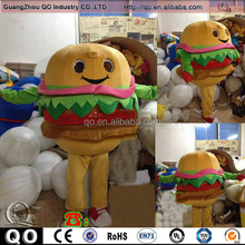 Top selling moving hamburger costume for adults