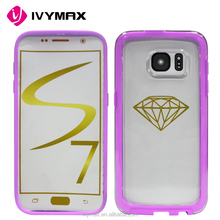 IVYMAX New Hard Back Case Cover for Samsung Galaxy S7 with FREE Screen Protector