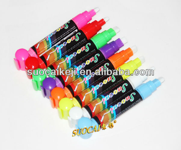 Brush Tip Pen Washable Colored Security Marker Pen with uv light