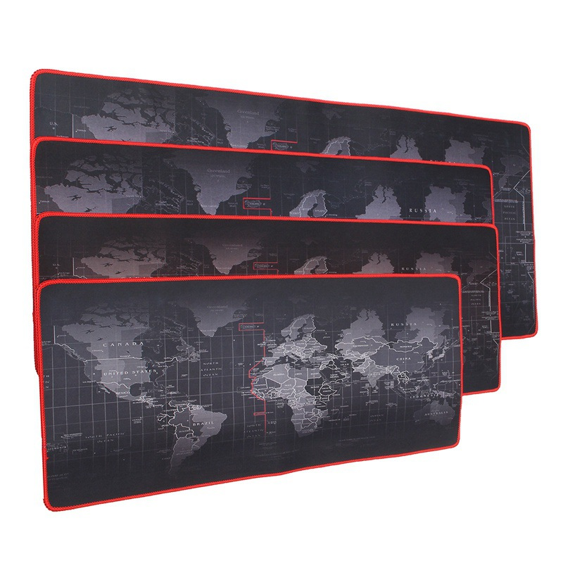 Wholesale Full Printing World Map Large Size Rubber Gaming Mouse Pad