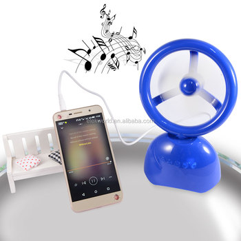 Y03 2 In 1 Adjustable Mini Fan & Wireless Speaker support Hands Free Calls/AUX/USB Drive/TF/FM, w/retail package