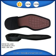 men leather shoes pvc shoe sole material