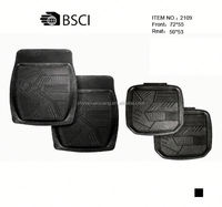 4 Pieces Anti Slip Classic Rubber Car Mats