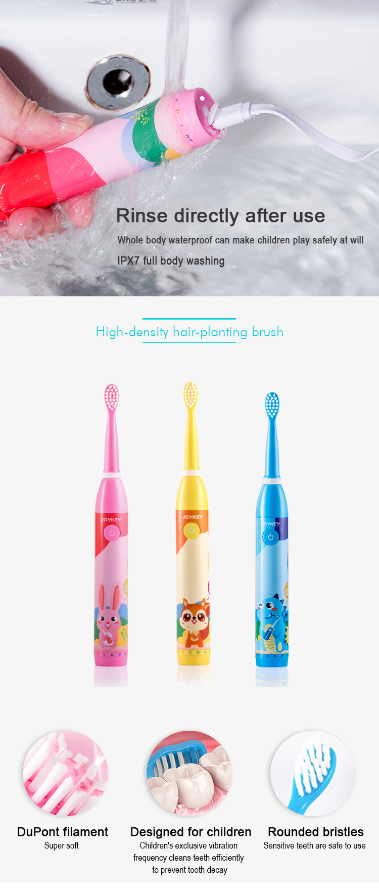 Eco friendly person kid electric toothbrush for babys kids